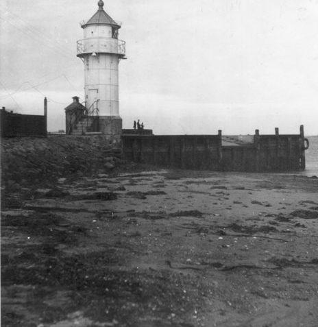 Aarøsund Havn uden vand 1956