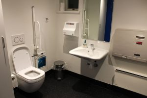 Toilet i Aarøsund medborgerhus